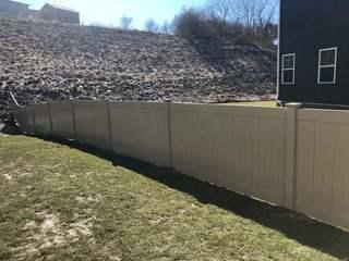 4' Almond Vinyl Acadia Privacy Fence