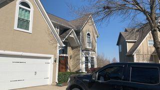 """Roof and 6"""" gutters with gutter shields installed."""