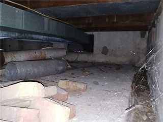 Old dusty crawlspace