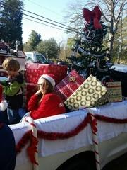 We delivered a load of presents, candy canes and lots of Christmas carols to spread the cheer.