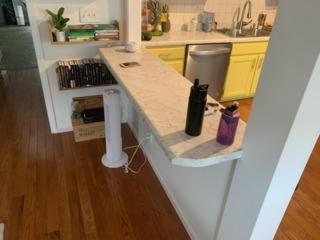 Counter Table build after tearing down part of a wall.