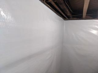 No more seams and drafts in this basement!