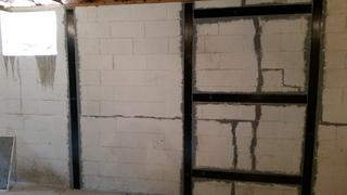 In this picture you can see how we reinforced the wall. We always do a professional, clean, and warranted job. But above all we always take pride in our work.