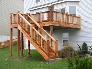 This absolutely stunning stairs give the home and yard a natural but polished look and feel.
