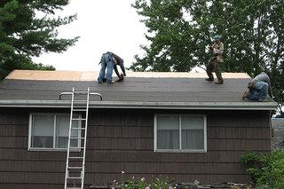 Before installing the shingles, the decking and water shielding must be applied.