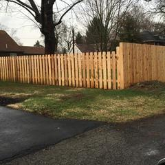 Pro Fence & Railing worked with our customer for a custom fencing design. We blended a 4' cedar picketfence with a 6' privacy fence.