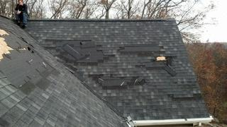 This is a different camera angle of the same home in Fairfield, CT. The importance of a roof being installed properly cannot be stressed enough, as shown by the total damage incurred from the hurricane.