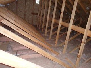 Blown fiberglass insulation is cheap and easy to install. It is so light and porous that air flows right through it, making it a very poor quality piece of insulation.