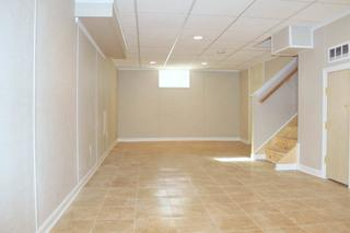 Beautiful remodeled basement in Stratford, CT.