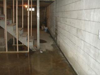 With all this water in the basement, there isn't any room for storage. What a waste of space.