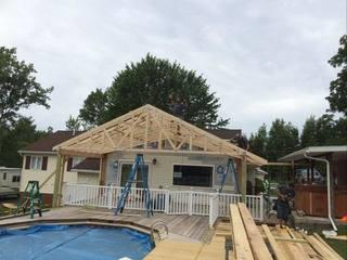 Building a roof over a deck in Fairville.