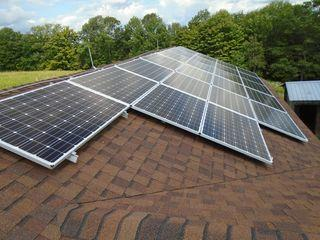 The energy produced by this 24 panel solar array corresponds to a CO2 emissions savings of approximately 12,001 pounds per year. Just how much is 12,001 pounds? You can equate this to the CO2 emissions from 5,847 pounds of coal burned!