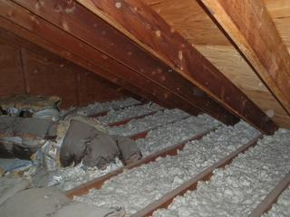 Dr. Energy Saver Delmarva will first, remove the old and dirty insulation from the attic.