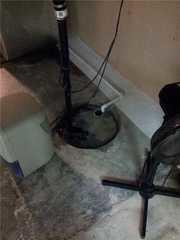 The customer's original sump pump.