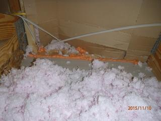 Dr. Energy Saver Delmarva has begun air sealing the attic floor.