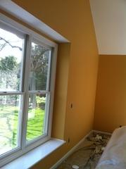 Yellow Walls, with Wood Trim Turned White, in Trumbull, CT