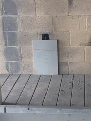 We installed wall pins to prevent the wall from sliding off of the poured concrete wall.