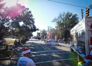 The beginning of the Camden Christmas Parade.