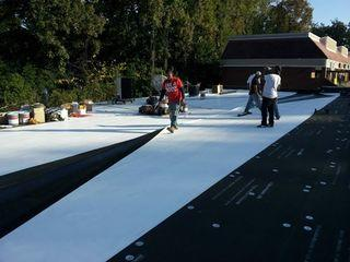 Commercial roof construction in Clarkston, GA.