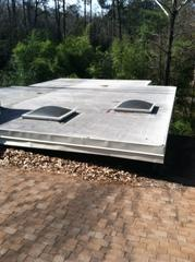 Before picture of the roof before replacing the asphalt shingles as well as the TPO roof.