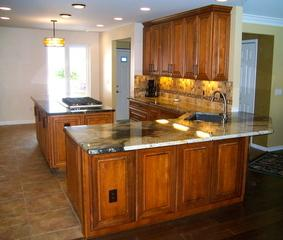 Newly renovated kitchen with island!