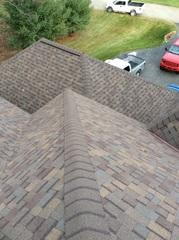 This attractive roof was in bad shape when ECOSTAR arrived- now it's brand new and will protect for years to come!