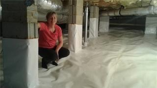 Judy M. of Chapin, SC is enjoying her new crawl space encapsulation!