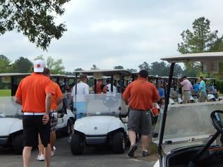 Almost 150 people were present at the golf tournament.