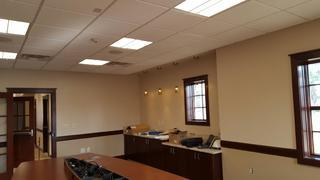 Lighting for conference room at Lyons National Bank.