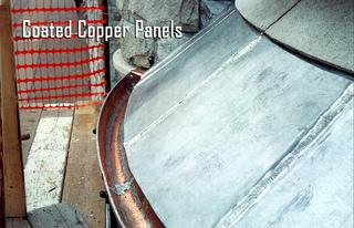 We installed these copper coated panels.