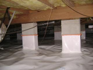 The new crawl space was sealed preventing hot and unhealthy air from entering the Clark home. This meant their air conditioner worked less as well as their allergy medication.