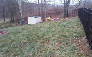 This photo shows how the fence outlines the property.