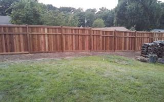 Here is a view of the cedar privacy fence.