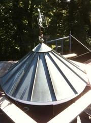 Here is what the structure on the roof looked like before we began the project.