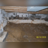 This crawl space had constant water flooding and mold, making the area unsafe and unusable.