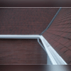 Our MasterShield gutter system with the Everett church's composition roof.