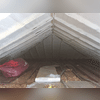 Portion of the attic after Spray Foam Insulation was Installed