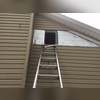This side attic had no access hatch so we had to cut a small access hole underneath the siding which once we are finished installing the insulation, we seal up and then replace the siding.