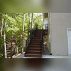 The stair color matches that of the decking