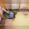 CleanSpace® ,WaterGuard®, and SuperSump® Sump Pump System Progress Photo