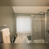 See how our bathroom remodeling experts placed the tub and shower next to each otherwith plenty of room to enjoy both. This is part of the bathroom renovation with did for Sharon and Edward of Odenton, MD.