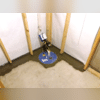 A view of the Sump System installed that will redirect any excess water outside of the home.