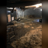 The crawl space was filled with mud and standing water that caused mold growth and water damage.