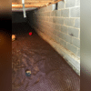 A drainage mat is laid under the CleanSpace Encapsulation for extra protection!