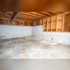 This basement suffered from water damage after repeated flooding.