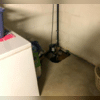 The basement already had a sump pump, but it did not work well and eventually broke.