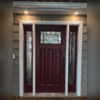These LED recessed cans provide the perfect amount of illumination for when someone enters, or exits the door.