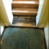 The rotting on the stairs made them unsafe to use.