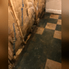 The insulation was moldy due to the repeated flooding.