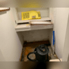 The homeowner had to repeatedly suck up water with a Vacuum because the basement repeatedly flooded.